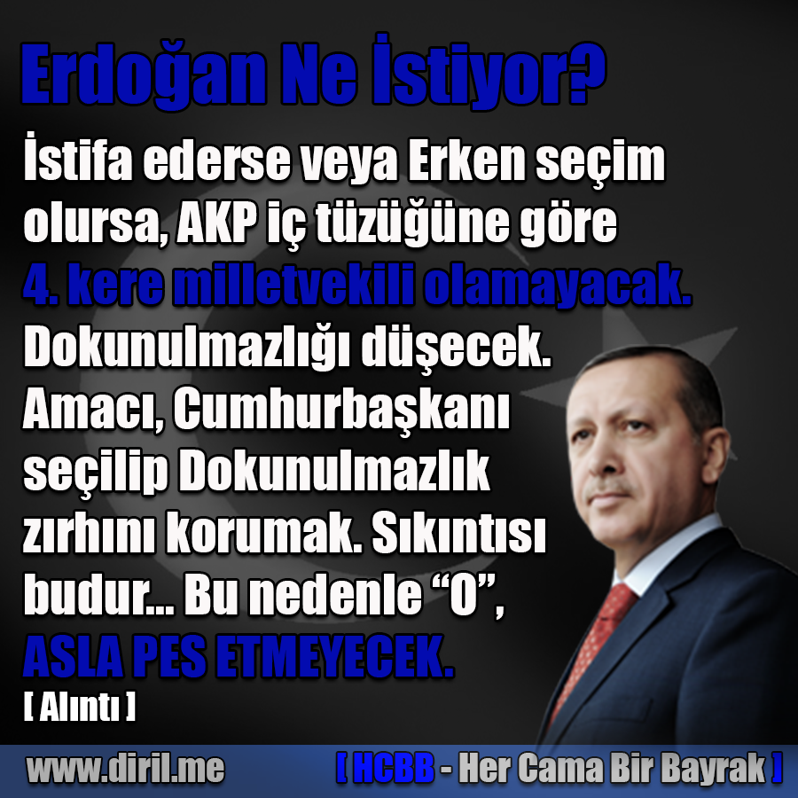 Erdoğan Pes Etmeyecek...